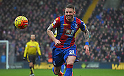 Connor Wickham chases down the loose ball during the Barclays Premier League match between Crystal Palace and Watford at Selhurst Park, London, England on 13 February 2016. Photo by Michael Hulf.