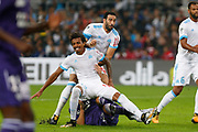 Luiz Gustavo during the French Championship Ligue 1 football match between Olympique de Marseille and Toulouse FC on September 24, 2017 at Orange Velodrome stadium in Marseille, France - Photo Philippe Laurenson / ProSportsImages / DPPI