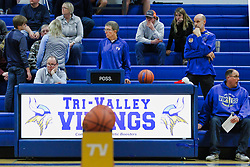 14 December 2018: Boys Basketball game between the Olympia Spartans and the Tri Valley Vikings at Tri Valley High School in Down IL