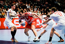 20.01.2020, Wiener Stadthalle, Wien, AUT, EHF Euro 2020, Kroatien vs Tschechische Republik, Hauptrunde, Gruppe I, im Bild v. l. Marek Vanco (CZE), Marino Maric (CRO), Tomas Babak (CZE), Stanislav Kasparek (CZE) // f. l. Marek Vanco (CZE) Marino Maric (CRO) Tomas Babak (CZE) Stanislav Kasparek (CZE) during the EHF 2020 European Handball Championship, main round group I match between Croatia and Czech Republic at the Wiener Stadthalle in Wien, Austria on 2020/01/20. EXPA Pictures © 2020, PhotoCredit: EXPA/ Florian Schroetter
