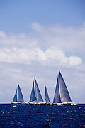 lady B and Mirabella V sailing during the St. Barth's Bucket 2011 race 1.