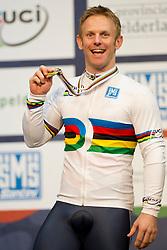 Jody Cundy, GBR, 1km TT Podium, 2015 UCI Para-Cycling Track World Championships, Apeldoorn, Netherlands