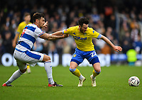 Football - 2018 / 2019 FA Cup - Third Round: Queens Park Rangers vs. Leeds United<br /> <br /> Leeds United's Jack Harrison holds off the challenge from Queens Park Rangers' Grant Hall, at Loftus Road.<br /> <br /> COLORSPORT/ASHLEY WESTERN