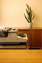 Detail of typewriter at Stasi Museum in Berlin Germany