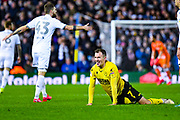Millwall midfielder Jed Wallace (7) reacts during the EFL Sky Bet Championship match between Leeds United and Millwall at Elland Road, Leeds, England on 28 January 2020.