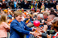 27-4-2018 GRONINGEN - King Willem Alexander and queen Maxima and princess Amalia , Ariane and Alexia during kings day 2018 . Princess Laurentien  prince Constantijn , Princess Marilene prince Maurits , princess Anita and prince Floris ,<br /> Prince Constantine and Princess Laurentien, Prince Maurits and Princess Marilene, Prince Bernhard and Princess Annette, Prince Pieter-Christiaan and Princess Anita and Prince Floris and Princess Aim&eacute;e   Copyright robin Utrecht