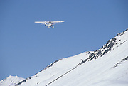 Ski plane, Glacier, Aviation, Alaska flying, Bush Plane, Denali, Denali National Park, Alaska