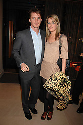 VIOLET VON WESTENHOLZ and CHARLIE GREEN at a party at shoe store Sergio Rossi, 207 Sloane Street, London on 4th April 2007.<br />