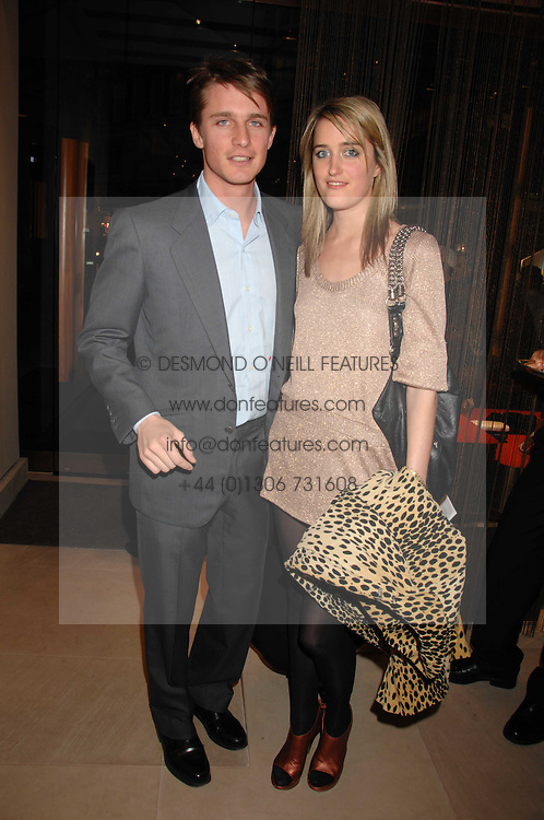 VIOLET VON WESTENHOLZ and CHARLIE GREEN at a party at shoe store Sergio Rossi, 207 Sloane Street, London on 4th April 2007.<br /><br />NON EXCLUSIVE - WORLD RIGHTS
