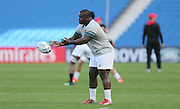 Trevor Nyakane in action during the South Africa Captain's Run training session in preparation for the Rugby World Cup at the American Express Community Stadium, Brighton and Hove, England on 18 September 2015.