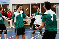 09-02-2013 VOLLEYBAL: NOJK 2013: HALVE FINALES DORDRECHT<br /> In Dordrecht werd de halve finale van de NOJK A Jeugd gespeeld /  VCV Veenendaal<br /> ©2013-FotoHoogendoorn.nl / Pim Waslander