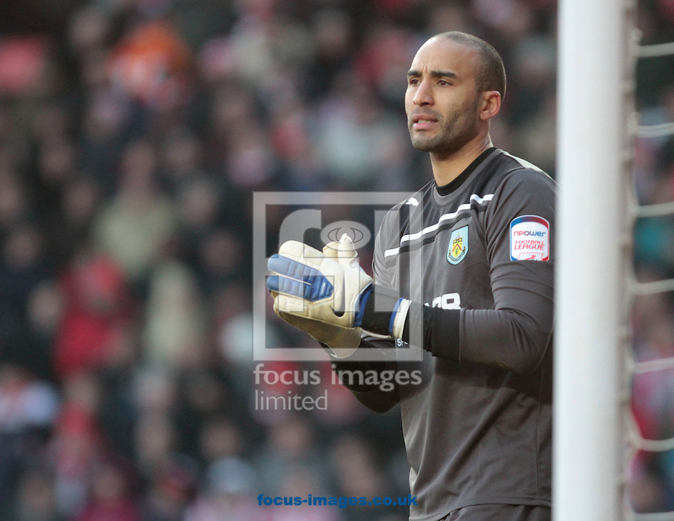 Picture by Daniel Chesterton/Focus Images Ltd. 07966 018899.11/02/12.Lee Grant of Burnley during the Npower Championship match at St Mary's stadium, Southampton.