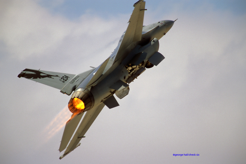 F-16C afterburner takeoff