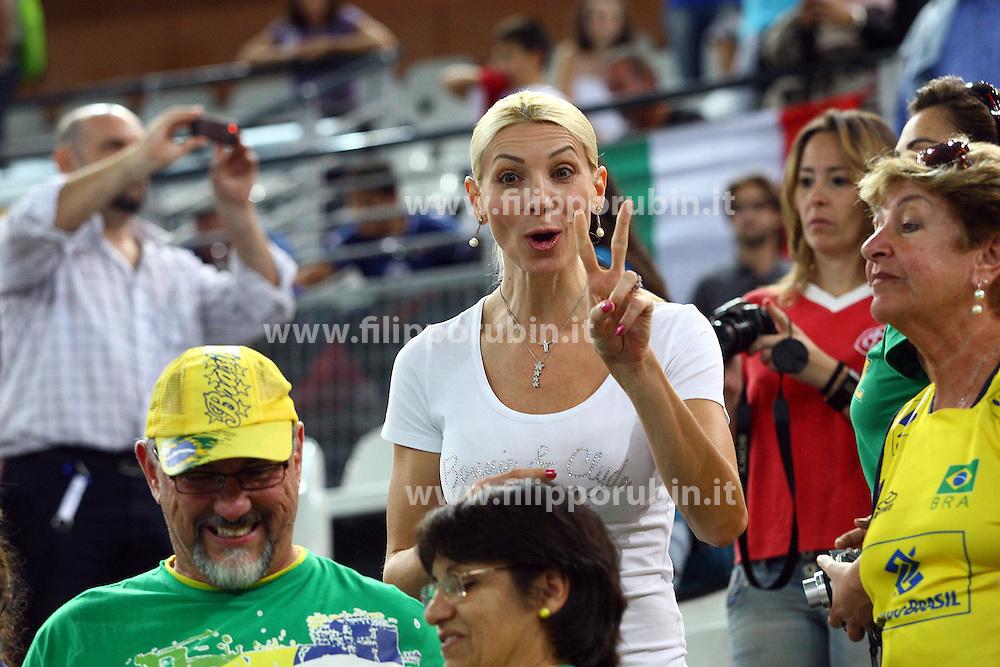 CRISTINA PIRV, MOGLIE DI GIBA.BRASILE - GERMANIA.VOLLEY 2010.CAMPIONATI MONDIALI PALLAVOLO MASCHILE 2010.ROMA 06-10-2010.FOTO GALBIATI - RUBIN
