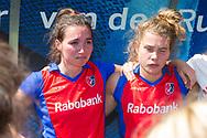 Den Bosch - Den Bosch - SCHC  Dames, Halve Finale  Playoffs, Tweede wedstrijd, Hoofdklasse Hockey Dames, Seizoen 2017-2018, 05-05-2018, Den Bosch - SCHC 4-2,  huilende Ginella Zerbo (SCHC)<br /> <br /> (c) Willem Vernes Fotografie