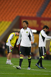 MOSCOW, RUSSIA - Tuesday, May 20, 2008: Chelsea's Michael Ballack during training ahead of the UEFA Champions League Final against Manchester United at the Luzhniki Stadium. (Photo by David Rawcliffe/Propaganda)
