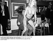 Ex policewoman Sharelle dancing at the 'Get Plastered'  Christmas Party. Groucho Club, Dean St. Soho, London. 5 December 1997<br />