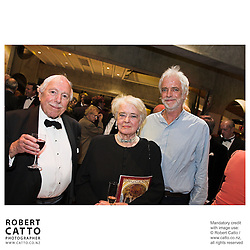 Denis Adam;Verna Adam;Ross Harris at the NZSO 60th Anniversary Concert at Michael Fowler Centre, Wellington, New Zealand.