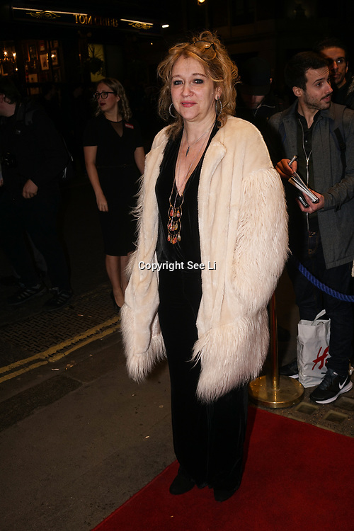 Sonia Friedman Theatre producer of  'Who's Afraid of Virginia Woolf' play press night on 9th Mrach 2017 at the Harold Pinter Theatre, London,UK. by See Li