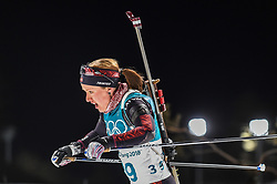 February 12, 2018 - Pyeongchang, Gangwon, South Korea - Baiba Bendika of Latvia  competing at Women's 10km Pursuit, Biathlon, at olympics at Alpensia biathlon stadium, Pyeongchang, South Korea. on February 12, 2018. (Credit Image: © Ulrik Pedersen/NurPhoto via ZUMA Press)