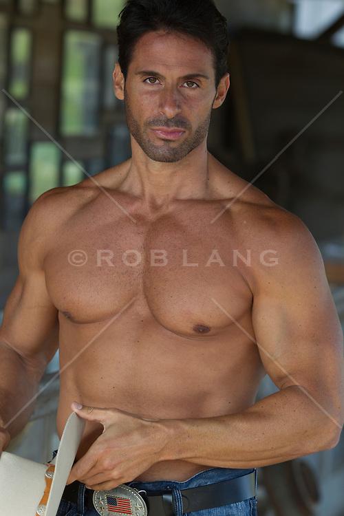 sexy shirtless cowboy