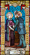 Therese's parents meeting on St. Leonard bridge. (Sam Lucero photo)