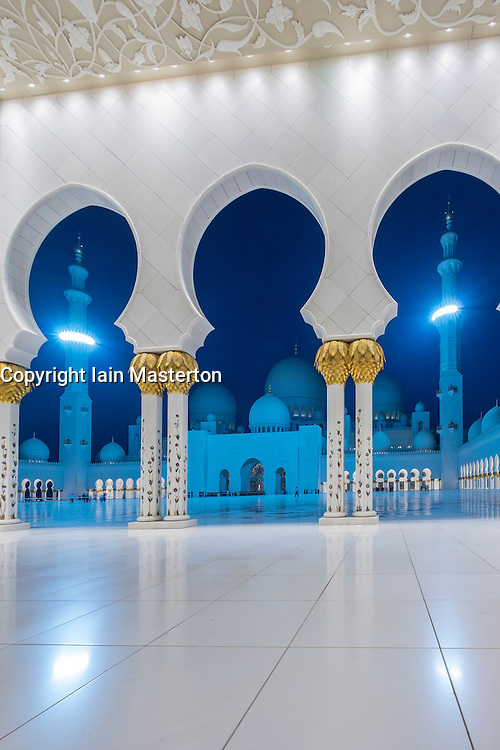 Sheikh Zayed Grand Mosque in Abu Dhabi United Arab Emirates