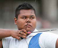 Haziq KAMARUDDIN (MAS), London Archery Classic, part of the LOndon Prepares Olympic Test Events, Lords Cricket Ground London, England, Photo by: Peter Llewellyn