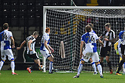 Notts County Ryan Yates (22) scores a goal to make it 2-2 during the The FA Cup match between Notts County and Bristol Rovers at Meadow Lane, Nottingham, England on 3 November 2017. Photo by Jon Hobley.