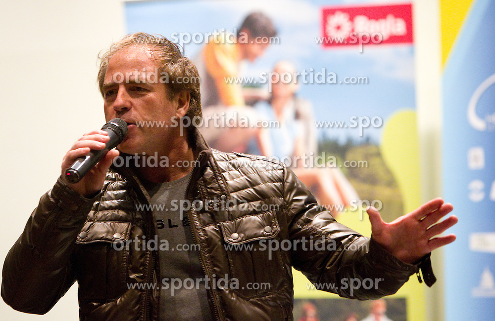Singer Vili Resnik during the Slovenia's Cyclist of the year award ceremony by Slovenian Cycling Federation KZS, on December 11, 2010 in Hotel Mons, Ljubljana, Slovenia. (Photo By Vid Ponikvar / Sportida.com)
