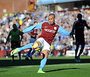 Gabriel Agbonlahor of Aston Villa shoots during the Barclays Premier League match between Aston Villa and Chelsea at Villa Park on February 21, 2009 in Birmingham, England.