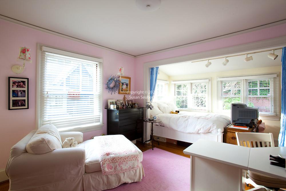 The Portland, Oregon home of Wendy Burden, author of  the memoir, Dead End Gene Pool. One of her daughter's bedrooms.
