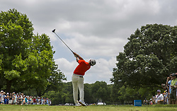 May 26, 2019 - Fort Worth, TX, USA - C. T. Pan of Taiwan during the final round of the 2019 Charles Schwab Challenge PGA at Colonial Country Club. (Credit Image: © Erich Schlegel/ZUMA Wire)
