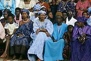 Women in traditional costumes at festival in The Gambia, Africa