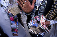 Foreign currency is exchanged in the street market. One US dollar is about  fifthy Afghan rupees