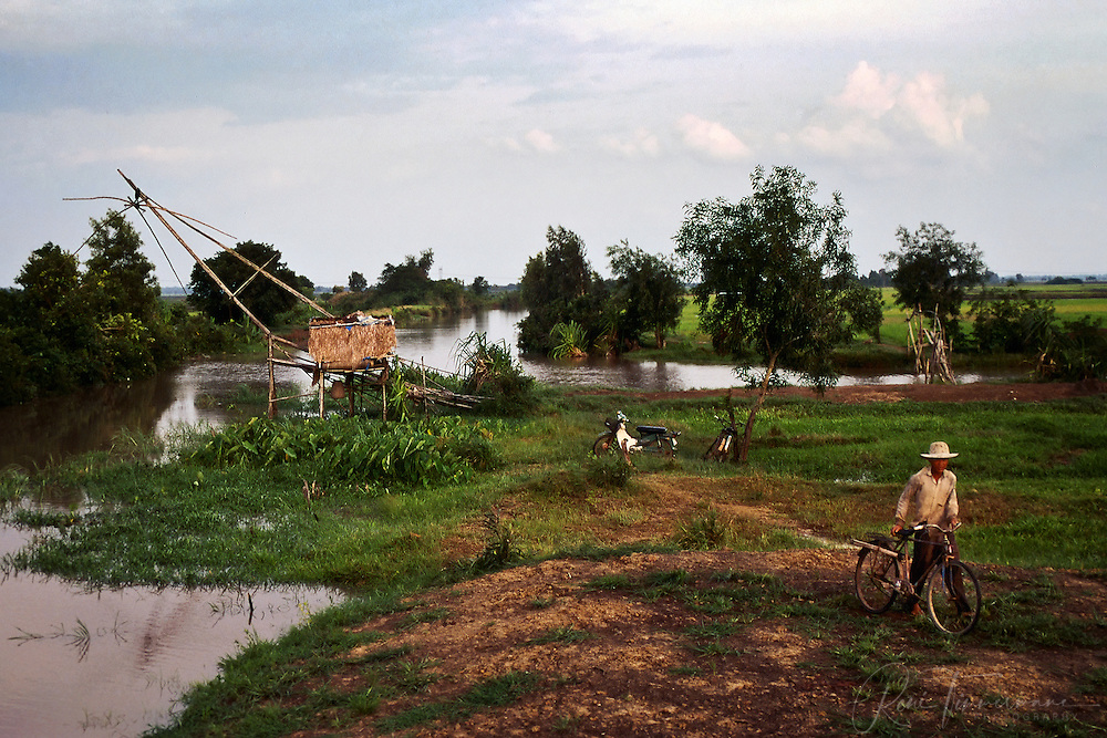 A fisherman returns home after a day on the job in the Mekong Delta.