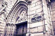 Church on Rue Saint-Séverin, Left Bank, Paris, France