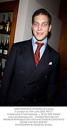 LORD FREDERICK WINDSOR at a party in London on 10th June 2003.PKF 31