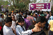 A long queue to get a ticket for the secondary of the tournament
