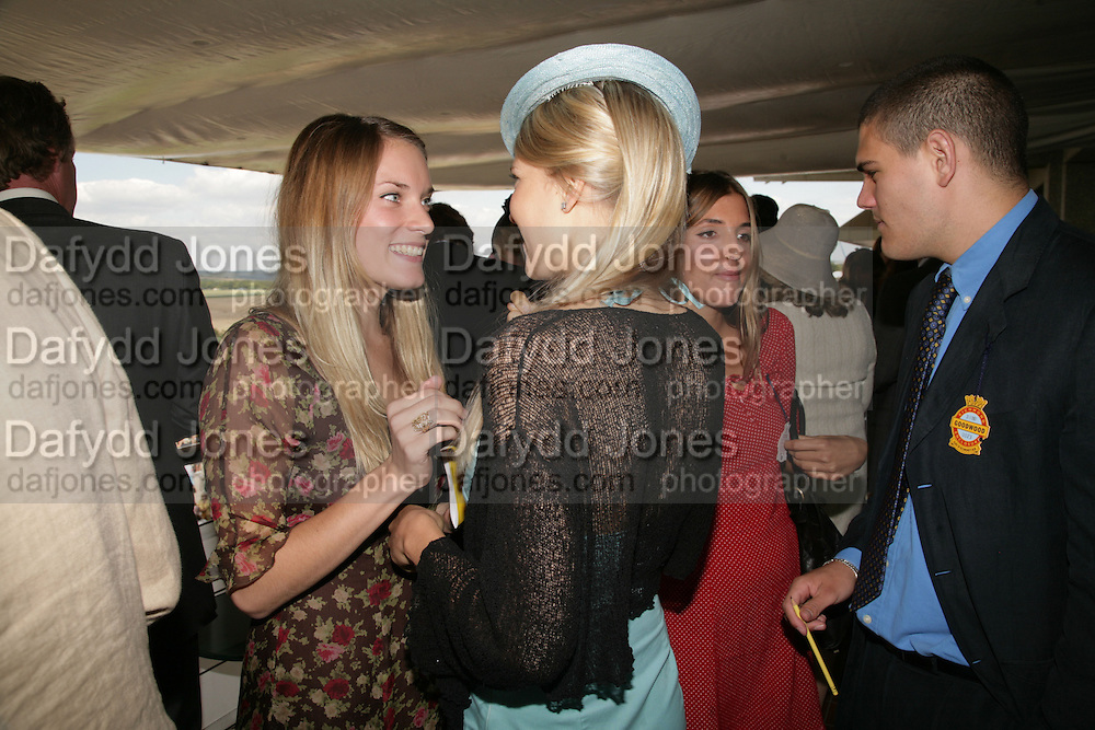 Sophie Paget-Stevenson and Lady Alexandra Gordon Lennox, Glorious Goodwood. 31 July 2007.  -DO NOT ARCHIVE-© Copyright Photograph by Dafydd Jones. 248 Clapham Rd. London SW9 0PZ. Tel 0207 820 0771. www.dafjones.com.