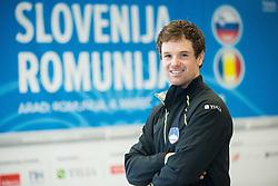 Blaz Kavcic during press conference of Slovenian Men Tennis Team for Davis Cup Romania vs Slovenia competition, on February 24, 2016 in Kristalna palaca, Ljubljana, Slovenia. Photo by Vid Ponikvar / Sportida
