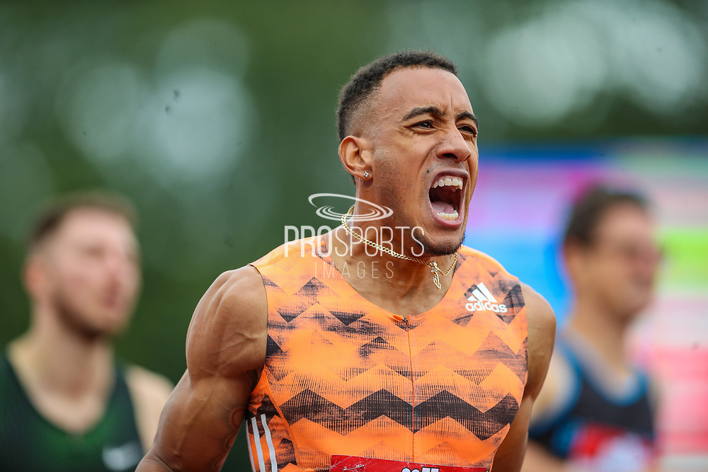 Orlando ORTEGA of Spain, winner of the Men's 110m Hurdles during the Muller Grand Prix 2018 at Alexander Stadium, Birmingham, United Kingdom on 18 August 2018. Picture by Toyin Oshodi.