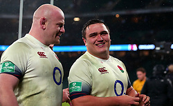 Jamie George of England and Dan Cole of England - Mandatory by-line: Robbie Stephenson/JMP - 18/11/2017 - RUGBY - Twickenham Stadium - London, England - England v Australia - Old Mutual Wealth Series