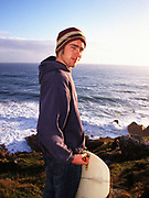 Portrait of a surfer, cornwall, UK
