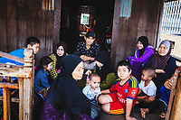 A muslim family in Chau Doc, in the Mekong Delta of southern Vietnam.