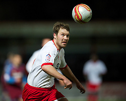 STEVENAGE, ENGLAND - Saturday, December 17, 2011: Stevenage's Scott Laird in action against Tranmere Rovers during the Football League One match at Broadhall Way. (Pic by David Rawcliffe/Propaganda)