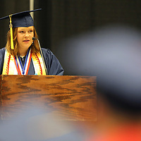 Nettleton High School Salutatorian Katie Grace Payne addresses her classmates during their graduation ceremony Saturday morning.