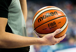 Molten Ball during basketball match between National Teams of Poland and Iceland at Day 3 of the FIBA EuroBasket 2017 at Hartwall Arena in Helsinki, Finland on September 2, 2017. Photo by Vid Ponikvar / Sportida