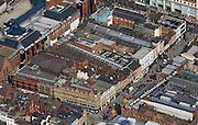 aerial photograph of Briggate Leeds Yorkshire England UK