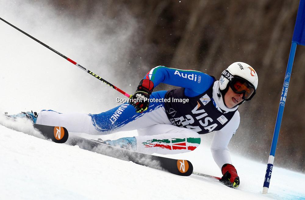 Federica Brignone  in azione nello slalom gigante,  Aspen, Colorado, Venerdi 27 Novembre, 2009. (Pentaphoto/Alessandro Trovati)